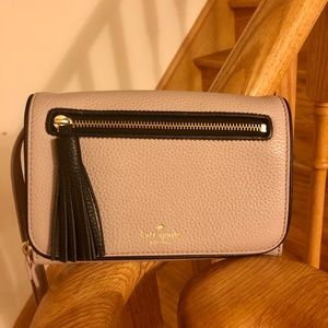 New Kate Spade Calfskin Leather 3 Ways Neutral Bag